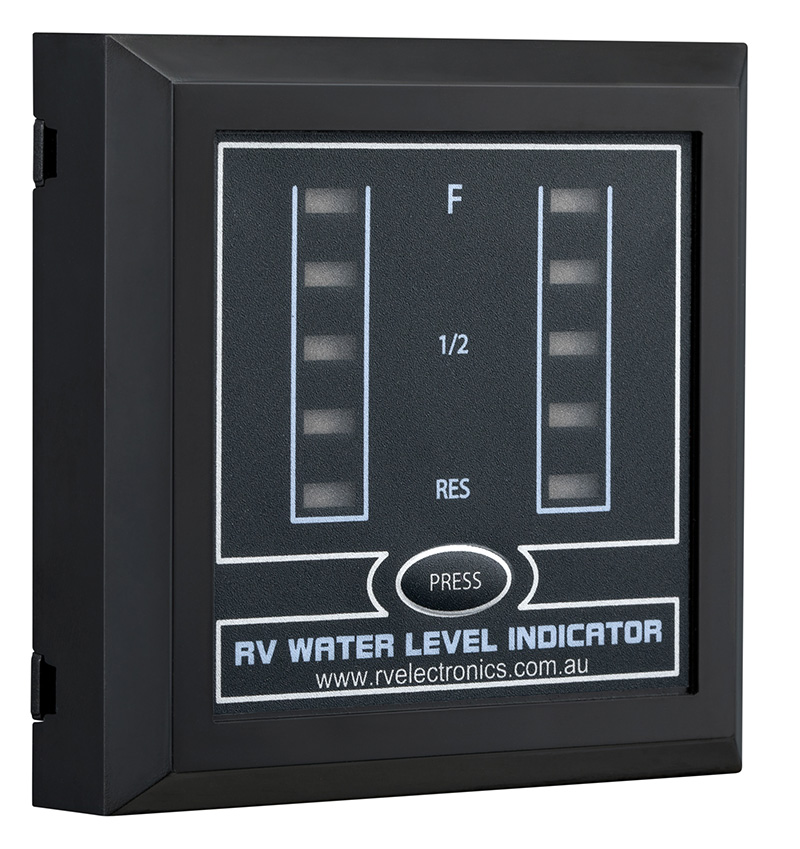 LED Black Double Tank Water Level Indicator