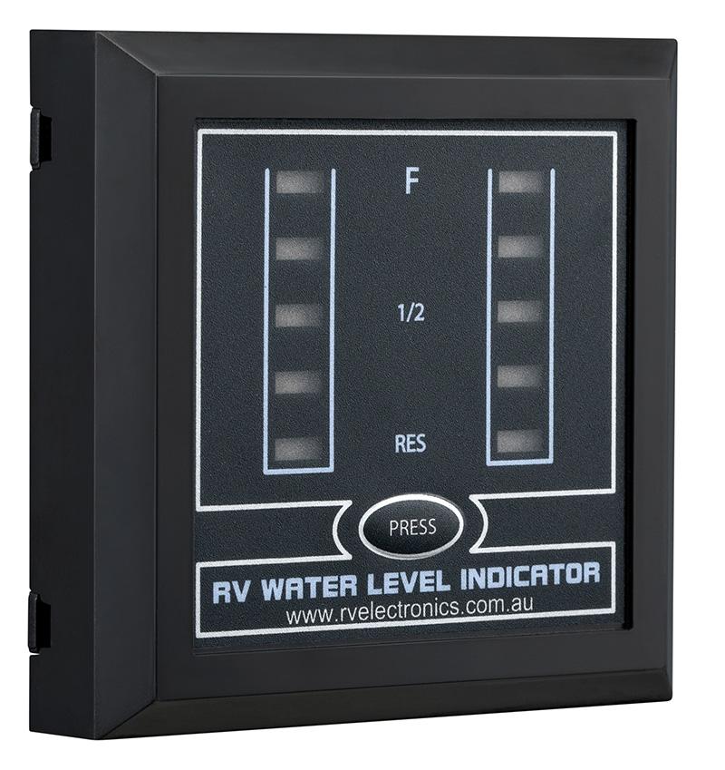 LED Black Double Tank Water Level Indicator
