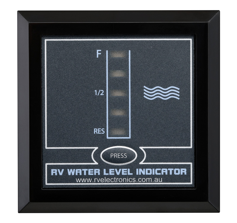 LED Black Single Tank Water Level Indicator