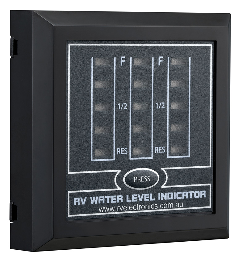 LED Black Triple Tank Water Level Indicator