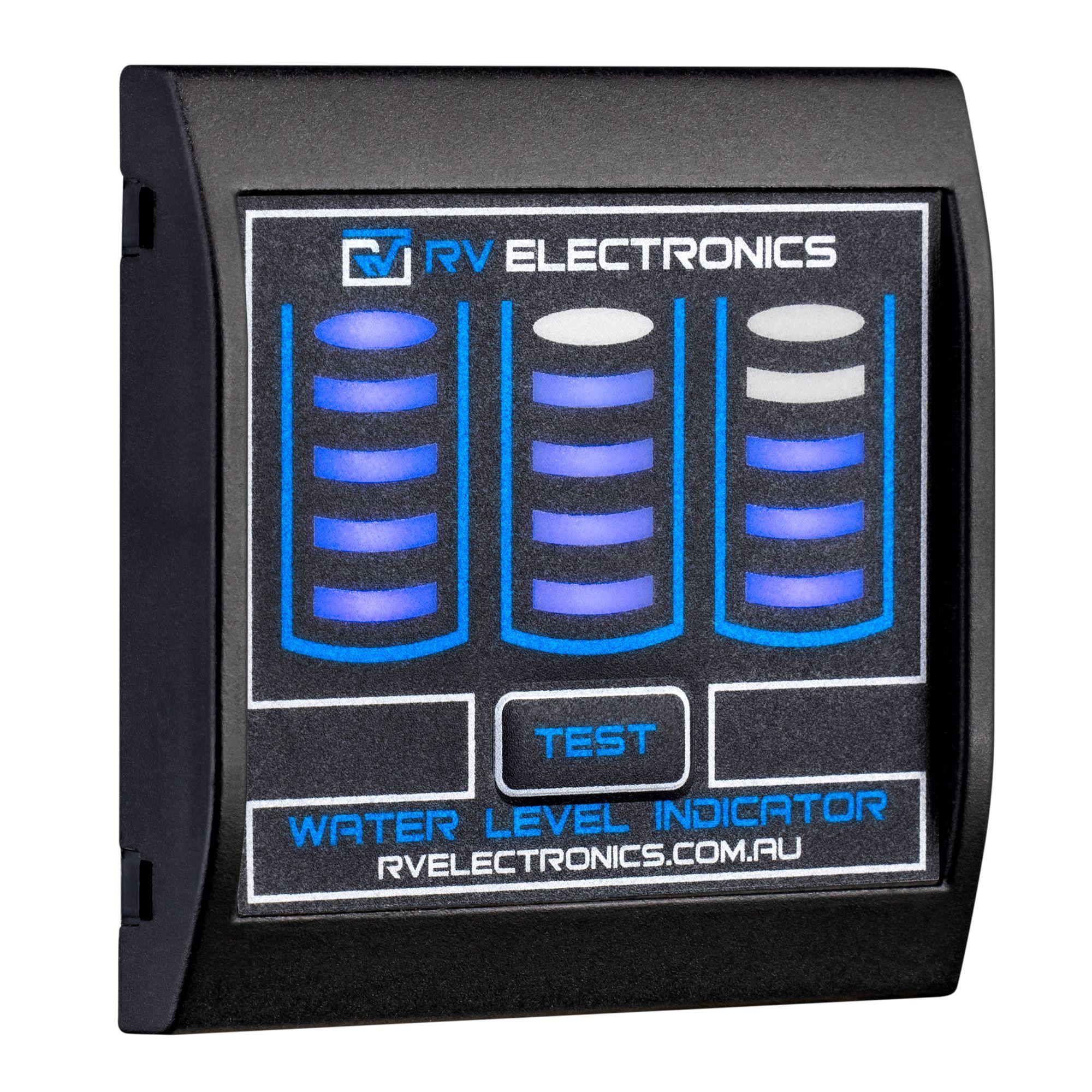 Slimline LED Black Triple Tank Water Level Indicator